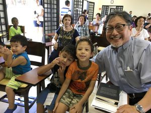 ブラジルアライアンス日系人教会アシュラムに参加した子供達