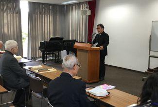 榎本恵主幹牧師による開会礼拝、オリエンテーシテーション