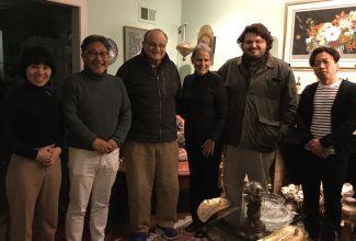 ワシントンのアンさん(アシュラムを日本に紹介下さったスタンレージョーンズ師の御孫)宅にて